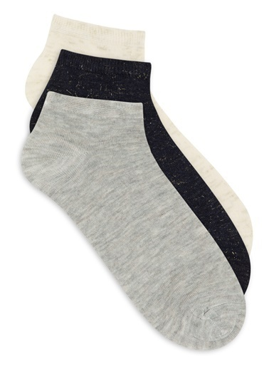 Mavi Üçlü Çorap Siyah
